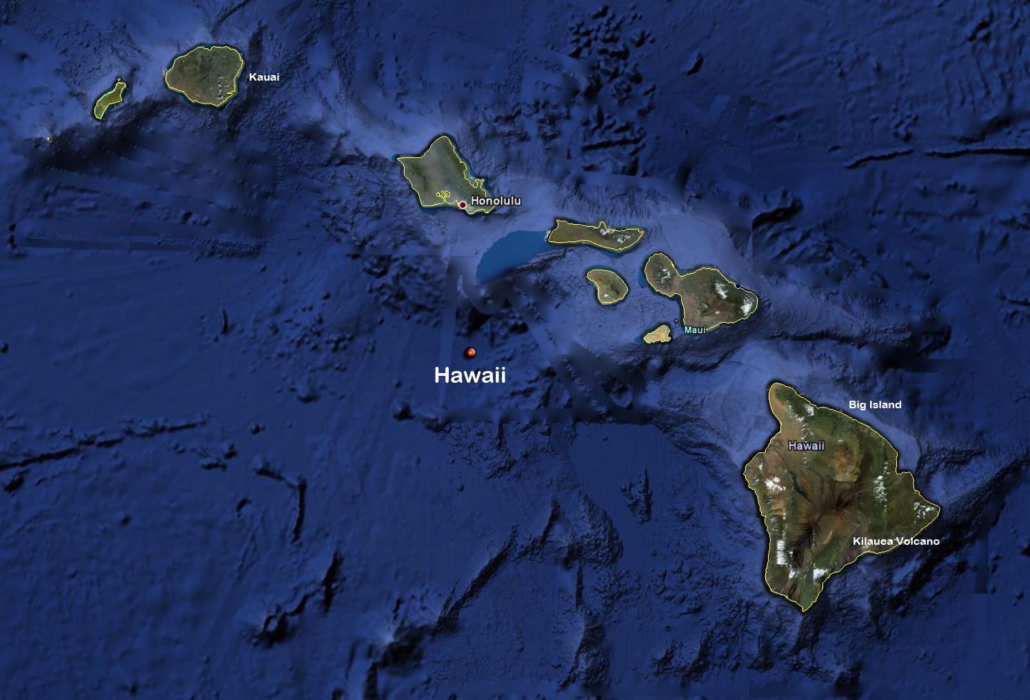 Planetphotoch World Map Hawaii - Hawaii world map